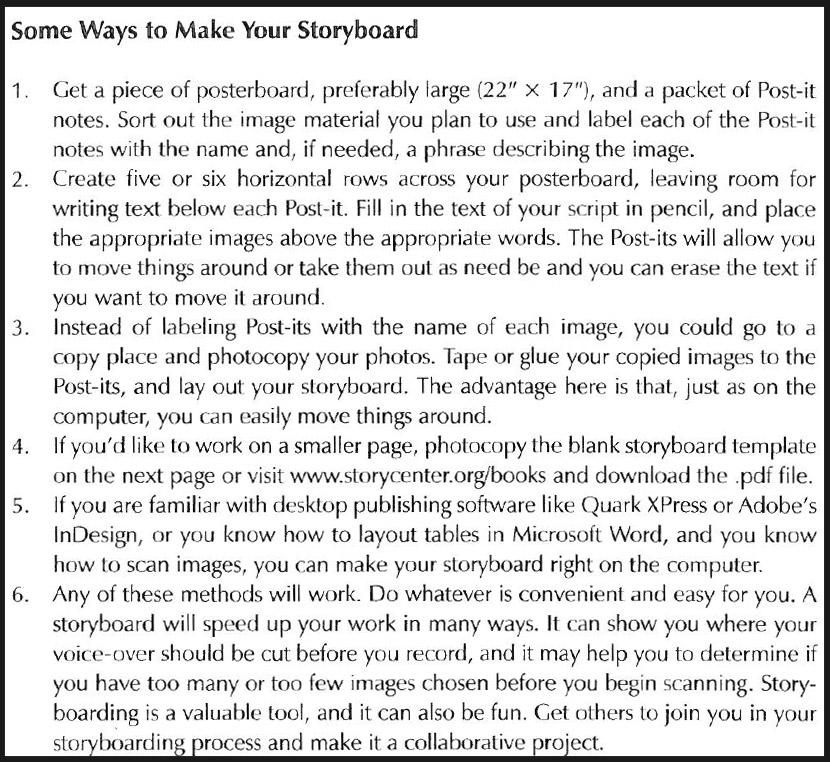 Ways to Make a Storyboard